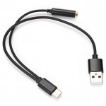 Adapter from Type-C to USB and Audio Type 221943101, Black
